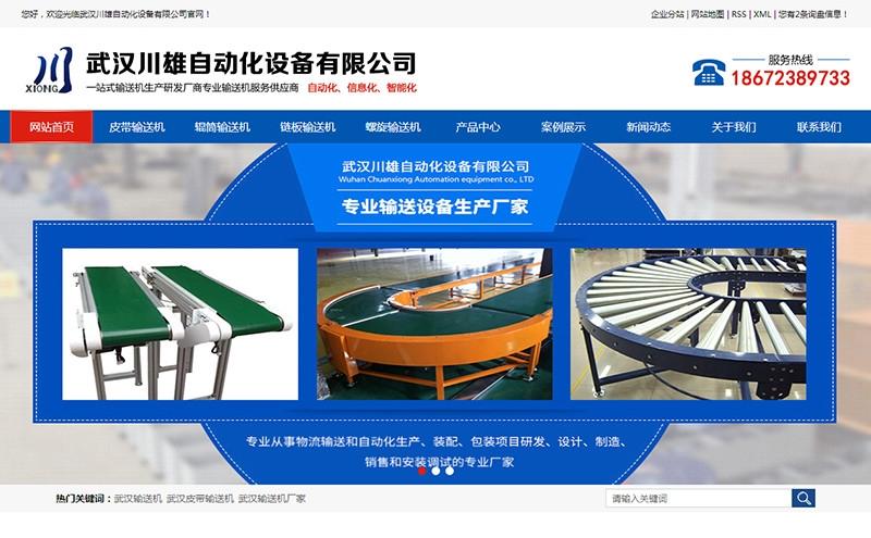 武汉川雄自动化设备有限公司 - 台州网站建设